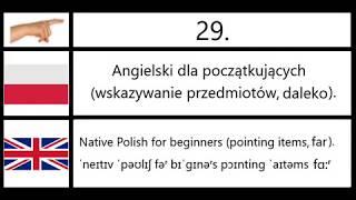 29. Angielski dla początkujących (wskazywanie przedmiotów, daleko) - Polish (pointing items, far).