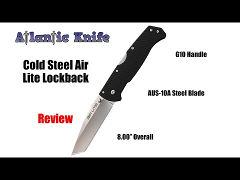 Cold Steel Air Lite Tanto Lockback Folding Knife Review | Atlantic Knife Reviews 2020
