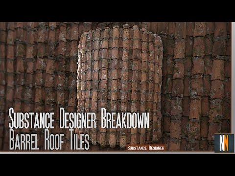Substance Designer Breakdown - Barrel Roof Tiles - Twitch Live Stream