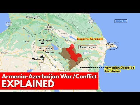 Armenia Azerbaijan war conflict Explained | International Relations UPSC Current Affairs