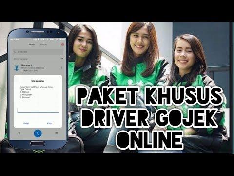 Cara Beli Paket internet,  nelpon,  dan Sms khusus Driver Gojek Online
