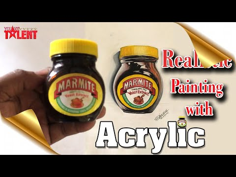 Realistic Painting with Acrylic | You Got Talent