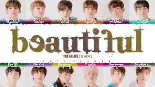 TREASURE – 'BEAUTIFUL' (FULL VERSION) Lyrics [Color Coded_Kan_Rom_Eng]