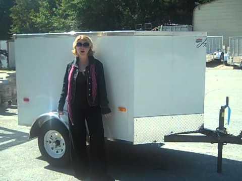 4x6 Horton Vnose Cargo Trailer Youtube