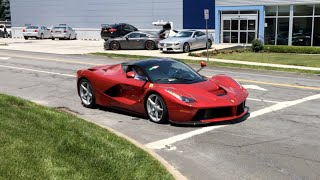 Rosso Fuoco LaFerrari Delivery - Startup, Small Acceleration, Walkaround