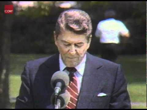 Ronald Reagan talking about fighting terrorism