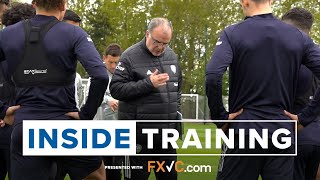Indoor work, keepie uppies and passing drills (plus a 3-pointer 🏀) | Inside Training