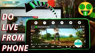 How to stream pubg mobile live on youTube from android phone