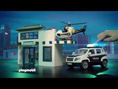 Полицейский участок и машина для перевозки денег PLAYMOBIL