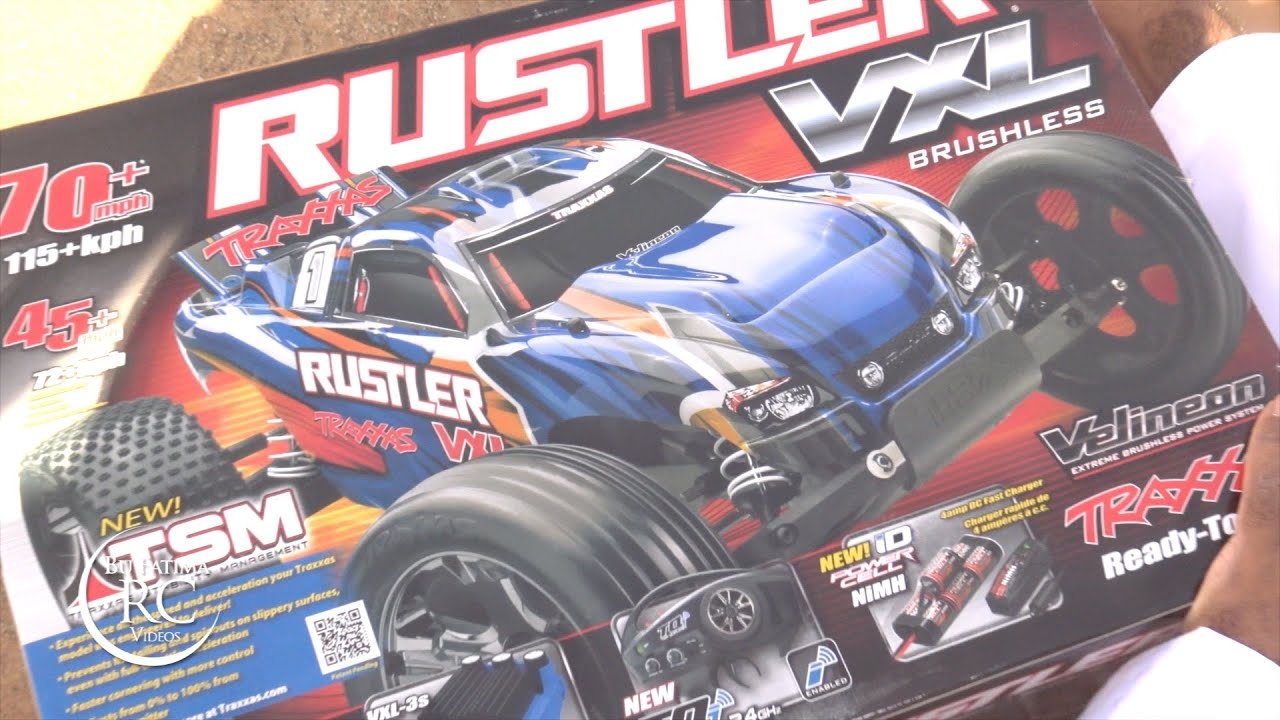 The NEW TRAXXAS Rustler VXL with TSM system Unboxing and First Run