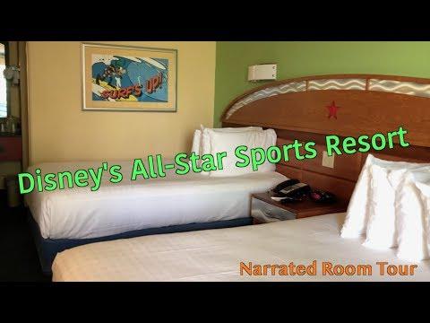 Disneys AllStar Sports Resort: Narrated Room Tour
