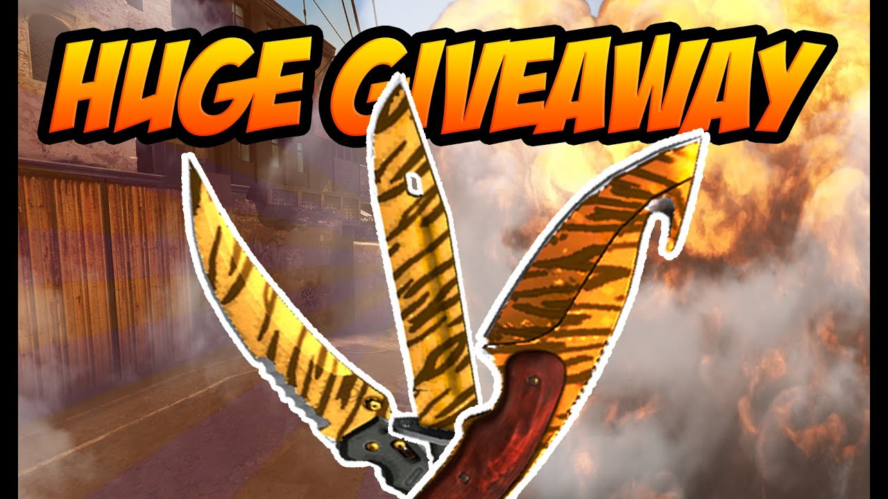 how to get free csgo knives huge knife giveaway youtube