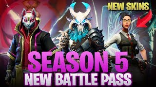 Video Fortnite Season 5 Full Battle Pass Inside Look! New Map, New Skins, New Vehicles! download MP3, 3GP, MP4, WEBM, AVI, FLV Juli 2018