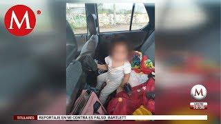 Roban camioneta en Jalisco con dos niñas en el interior