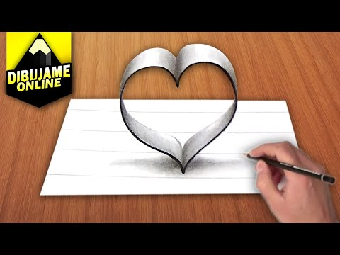 COMO DIBUJAR UN CORAZON EN 3D YouTube