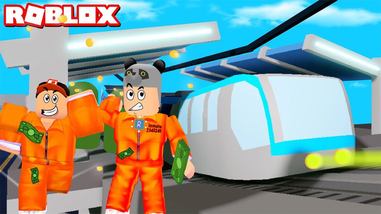 Tren Soygunu Yapıyoruz!! Zengin Olduk - Panda ile Roblox Mad City