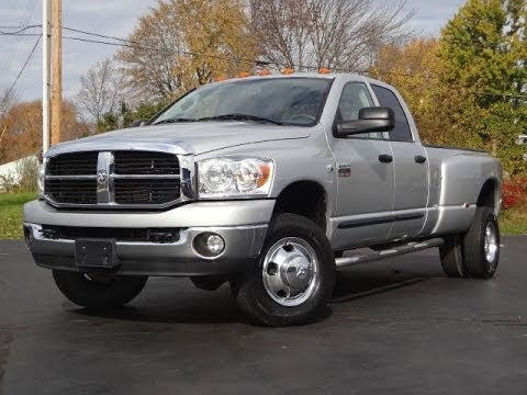 2007 Dodge Ram 3500 Big Horn Dually 5.9L CUMMINS DIESEL SOLD!! - YouTube