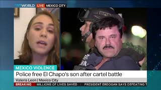 El Chapo's son released after cartel battle