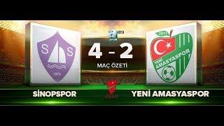 Sinopspor 4-2 Yeni Amasyaspor | Maç Özeti HD | A Spor | 22.08.2017