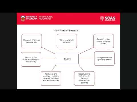 Webinar: Postgraduate study for the public sector, SOAS University of London