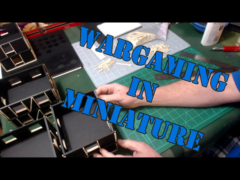 Wargaming in Miniature Building 28mm Row Houses Pt 2 Framing