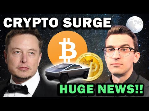 CRYPTO PRICE SURGE!! Huge News Tesla, Apple, Elon Musk