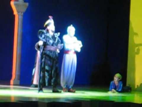 Lincoln joke from Genie in the Aladdin Stage Show in California Adventure
