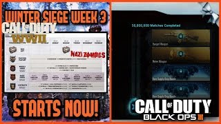 BO3 Community Challenge Progress and COD WW2 Weapon Tuning/Week 3 Winter Seige Event
