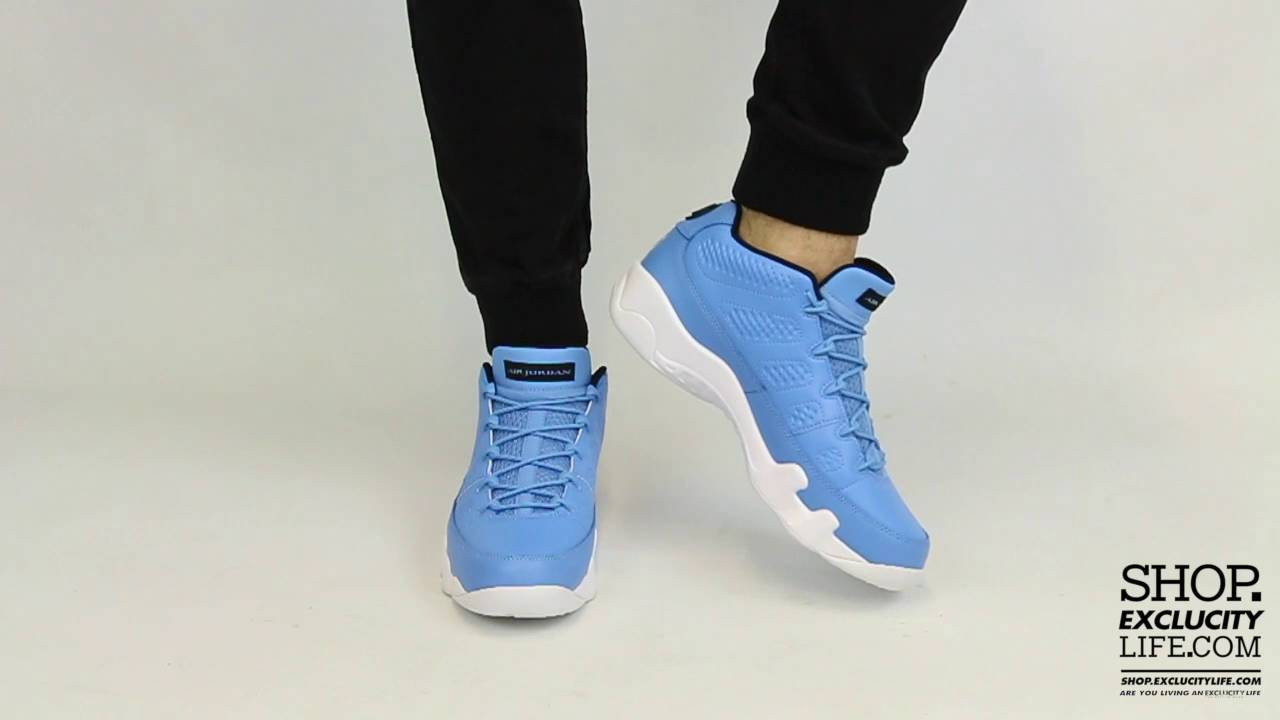 2d23287cc55f ... white blue pearl e0a07 3b48c  low cost air jordan 9 low pantone on feet  video at exclucity 03777 e8005