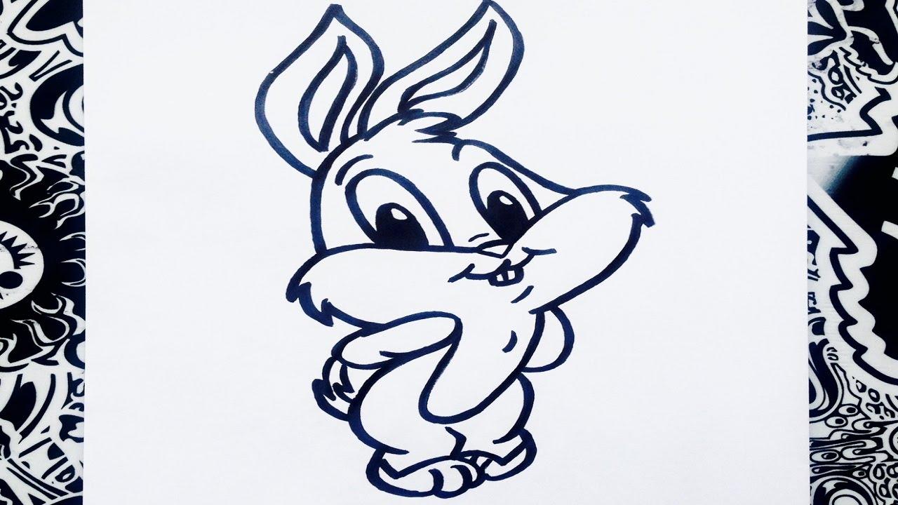 como dibujar a bugs bunny paso a paso  how to draw bugs bunny