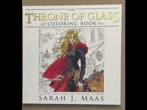 The Throne Of Glass Coloring Book Flip Through