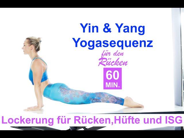 Yin-Yang-Yoga| Mindful Vinyasa gegen steifen Rücken| Muskuläre Dehnung & Fasziale Lockerung| 60min.