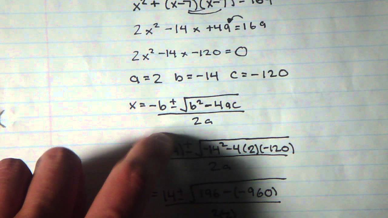 medium resolution of Grade 10 Quadratic Word Problems - YouTube