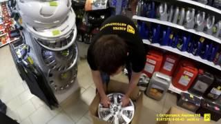 Литые диски на Kia Rio и Hyundai Solaris КиК 13067 Реплика Азбука Автозапчастей Острогожск смотреть