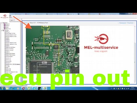 The Pin out of the engine control units ECU Bosch +