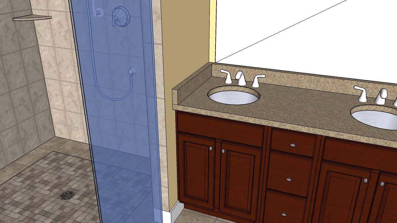 Geer Master Bathroom CAD Design - MasterCraft Kitchen ...