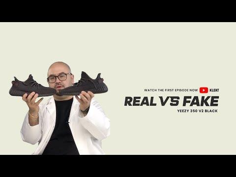 "KLEKT Legit Check Ep.1: How To Spot A Fake Yeezy 350 V2 ""Black Static"" (2019)"
