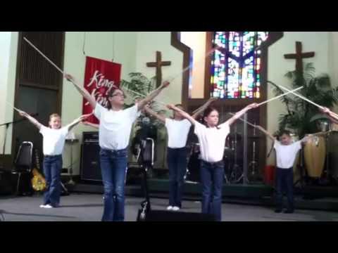 Children's church Easter stick drama