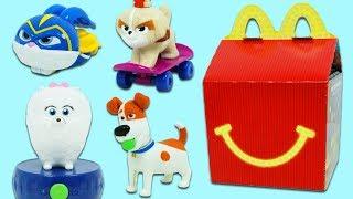 SLoP The Secret Life of Pets McDonald's Happy Meal Surprise Toys!