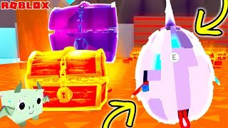 BUYING TIER 7 EGG AND NEW LAVA AREA IN ROBLOX PET SIMULATOR!!! (PURPLE CHEST) (Episode 6)