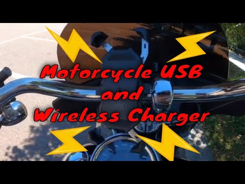 Motorcycle Cell Phone Mount Charger Qi(WIRELESS) and USB. Porta cellulare moto Wireless porta USB