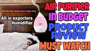 Allin Exporters Best Ultrasonic Humidifier & Purifier Cool Mist With Color LED Lights || Tech Divya