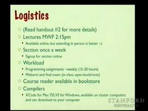 Lecture 1 | Programming Abstractions (Stanford)