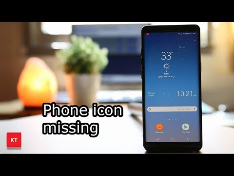 Phone icon missing from the android device - YouTube