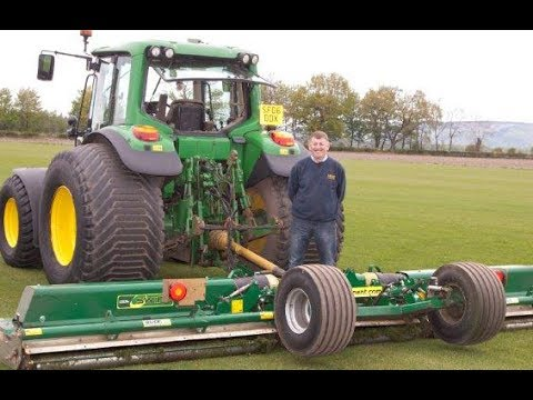 Albar Landscapes, Scotland and their Major 5.5m Trailed Roller Mower