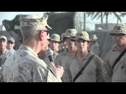 The Commandant of the Marine Corps' motivating speech, Afghanistan 9-22-2011