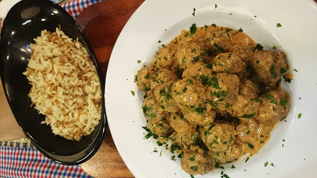 Albóndigas con arroz turco