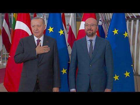 EU-Turkey migrant crisis: Erdogan meets EU Council President Michel, NO handshake due to coronavirus