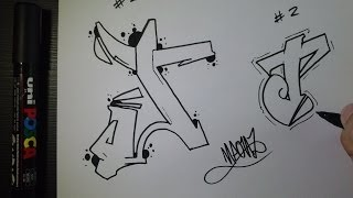 "How to draw Graffiti Letter ""J"" on paper"