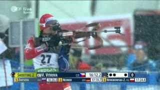 Biathlon Sprint der Damen in Nove Mesto 2012(Audio und Video stimmen leider nicht ganz überein! 1. ZAITSEVA Olga (RUS) 2. BERGER Tora (NOR) 3. NEUNER Magdalena (GER) 4. BRUNET Marie Laure ..., 2012-01-13T15:14:28.000Z)